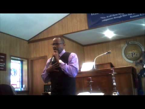 "Pastor Chris Steele preaching ""Mothers in the Past"" on Mother's Day"