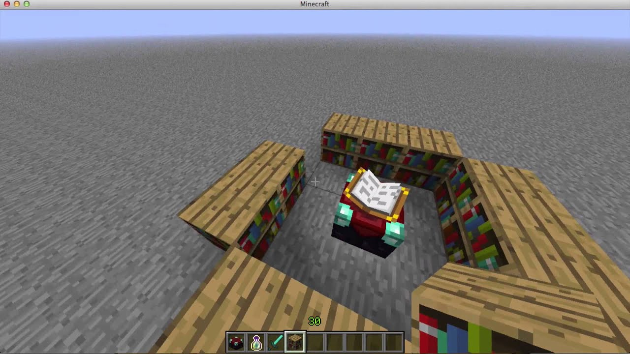 Minecraft Enchantment Table Bookcase Setup How To Get The - Enchantment table bookshelves