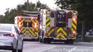 MCFRS Medic 731, Truck 731, Engine 731, Tech Rescue 700 & Tech Rescue 700 Bravo Responding