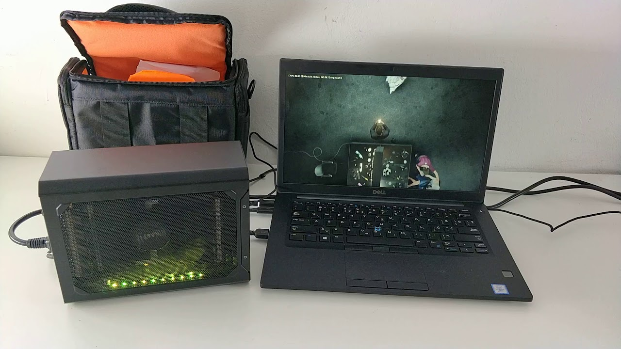 Dell Latitude 7490 & Gigabyte RX580 Gaming Box benchmarking