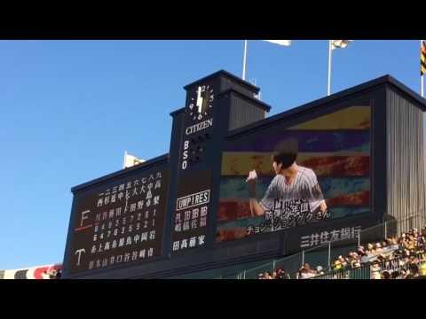 BTS Jungkook 170602 Opening Baseball Match Hanshin Tigers X Nippon-Han Fighters