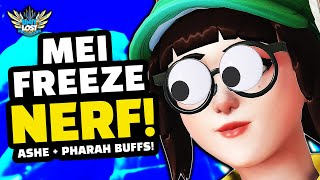 Overwatch Mei HUGE Freeze Nerf! Pharah and Ashe BUFFED! [Experimental Mode]