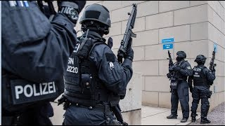 GEFAHRENLAGE: Zwei Menschen in Halle in Sachsen-Anhalt erschossen