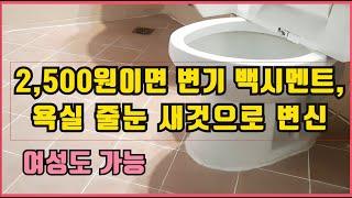 여성도 2500원이면 더러운 변기 백시멘트 욕실 줄눈 …