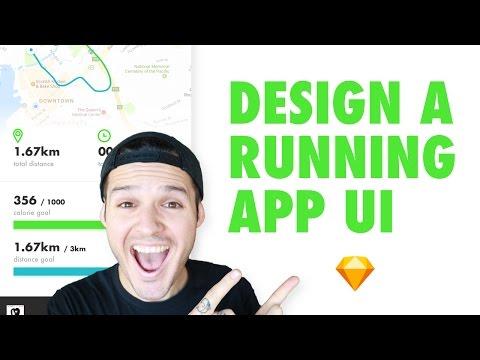 Running Exercise App Interface Design • Sketch for Mac Design Tutorial • How to do UI design