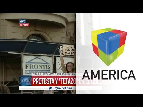 Un video muestra la intimidad del Tetazo que se realizó ayer en el Obelisco porteño