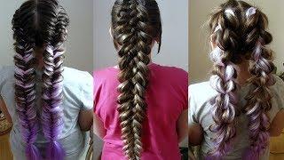 Цветные косы  Красивые косы с канекалоном  Три варианта плетения  Очень понятные видео уроки
