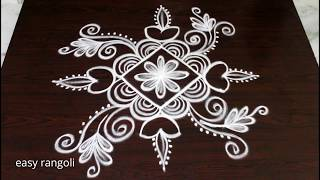 Latest Deepam rangoli kolam designs for Diwali 2018 * easy & simple muggulu with dots
