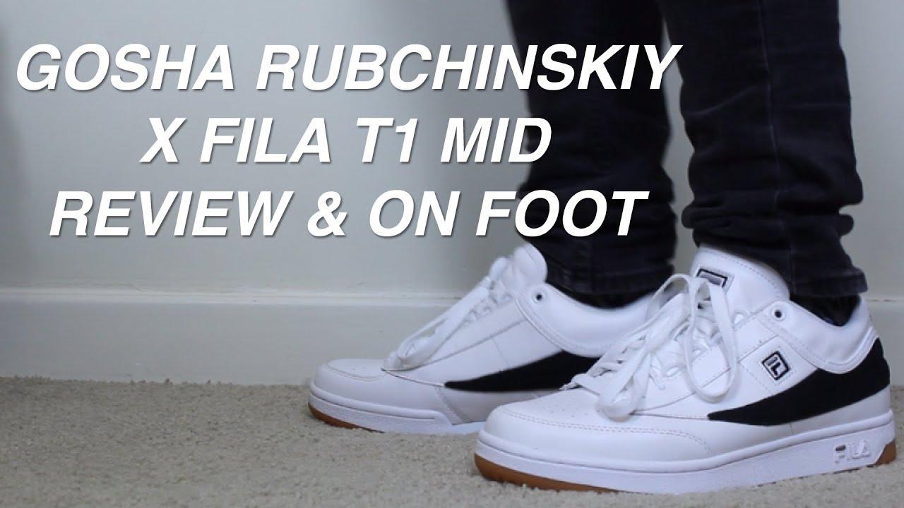 Gosha Rubchinskiy X Fila T1 Mid Review & On Foot