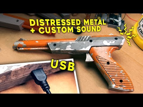 NINTENDO ZAPPER MOD | Sound, USB, Metal Distressed Look