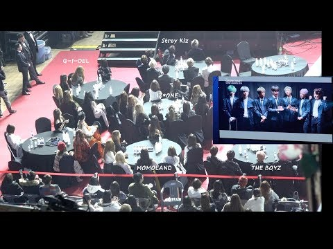 IZ*ONE, Stray Kids, MOMOLAND, (G) I-DLE, The Boyz Reaction to 방탄소년단(BTS) 공헌상 (VCR) 4K 190123