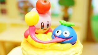 kirby miniature toy! 「Kirby Bakery Cafe」星のカービィのリーメント!「あつまれベーカリーカフェ」stopmotion anime!