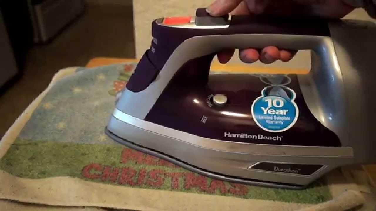 hamilton beach durathon iron manual