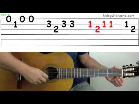 Guitar Lesson 4F: The skye boat song