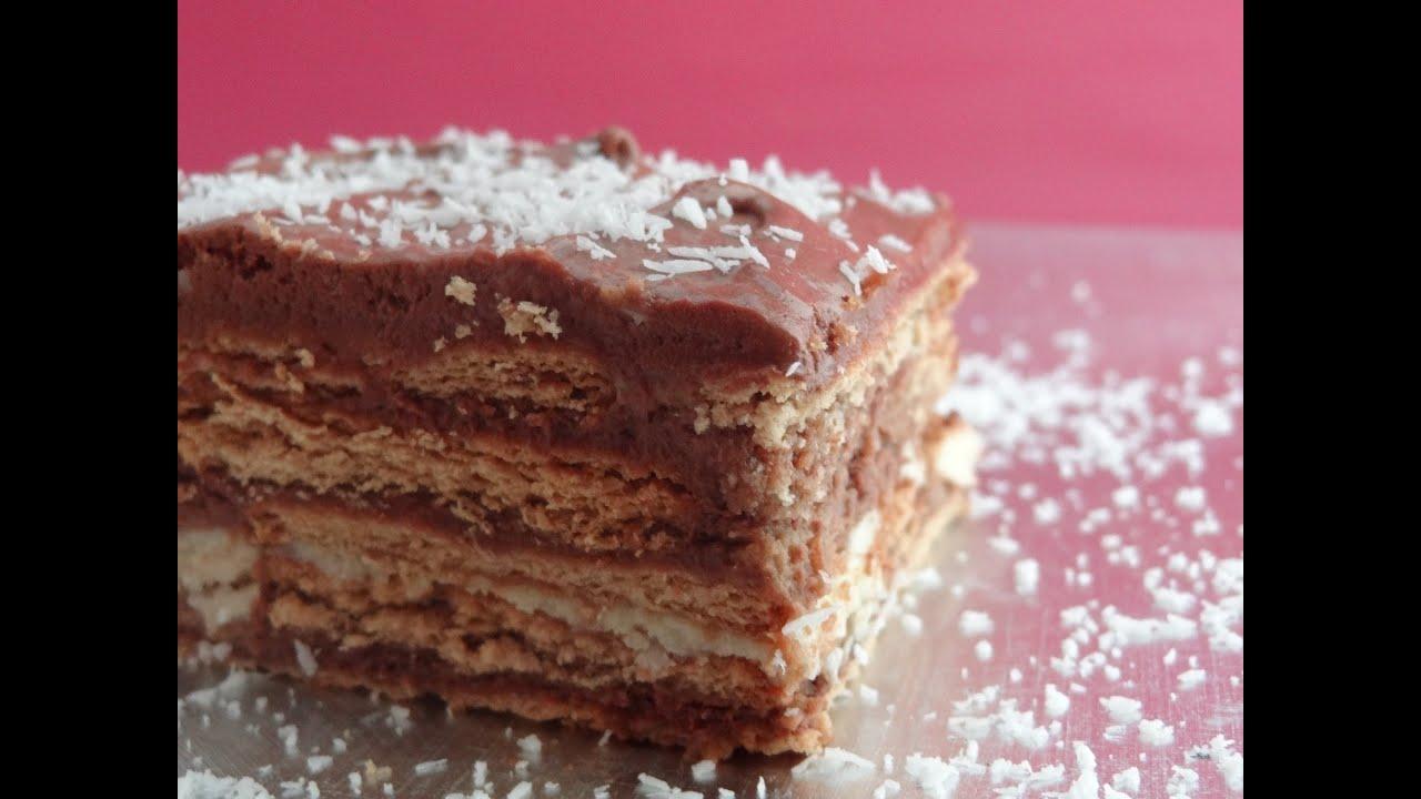 tarta de galletas con chocolate tarta de la abuela tarta de galletas casera youtube
