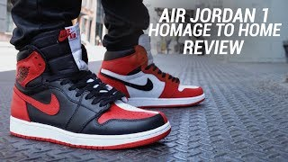 AIR JORDAN 1 HOMAGE TO HOME REVIEW