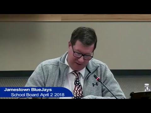 Jamestown Public Schools Board April 2 2018