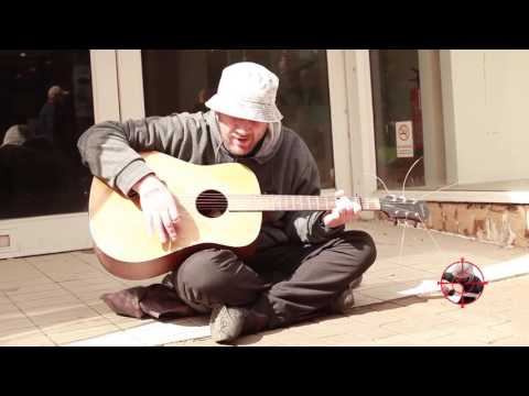 Andy (with the elusive surname) Sing - Travis cover - Macclesfield Busker