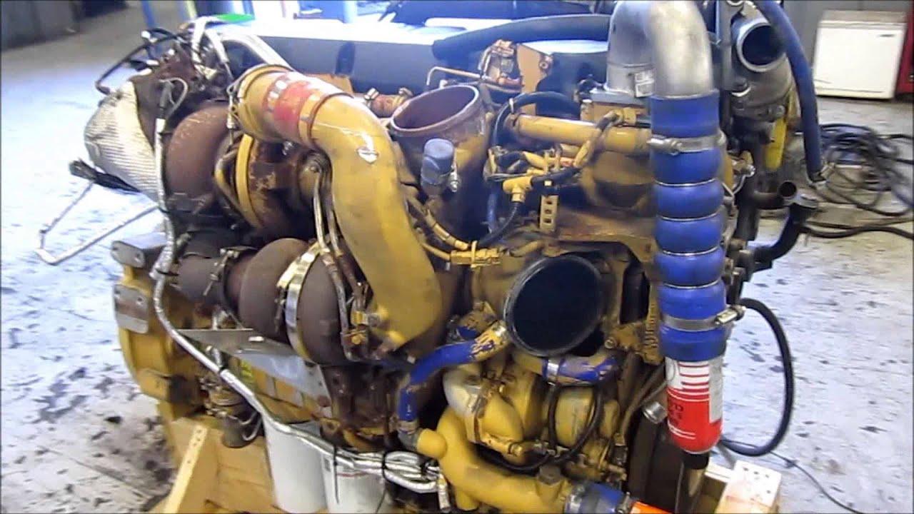 2008 Caterpillar C13 Acert Diesel Engine Running  YouTube