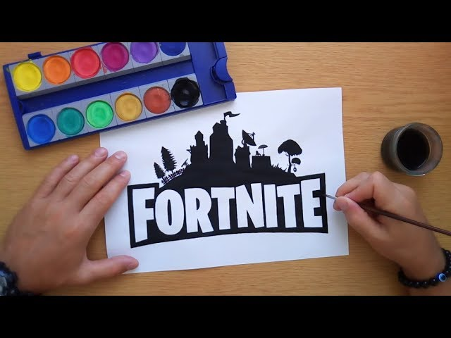 How to draw the Fortnite logo (Logo drawing)