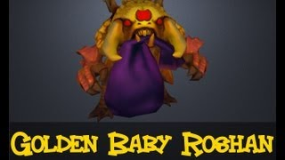 Dota 2 Courier: Golden Baby Roshan