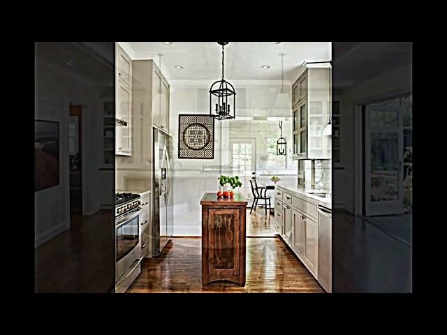 beige klassische Küche Insel selber bauen