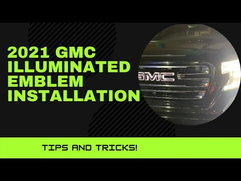 2021 GMC Illuminated Emblem Installation