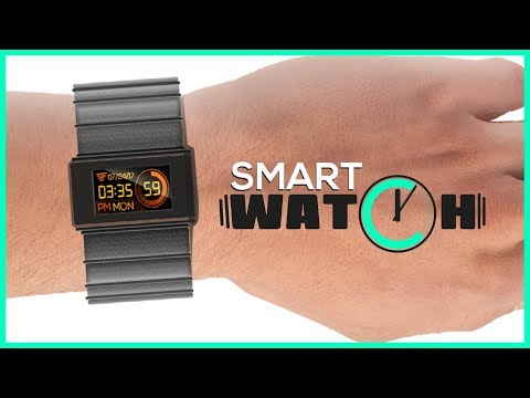 """Smart Watch featuring 4D Systems' 0.9"""" Internet of Display WiFi enabled display module"""