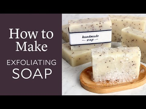 How to Make Exfoliating Cold Process Soap