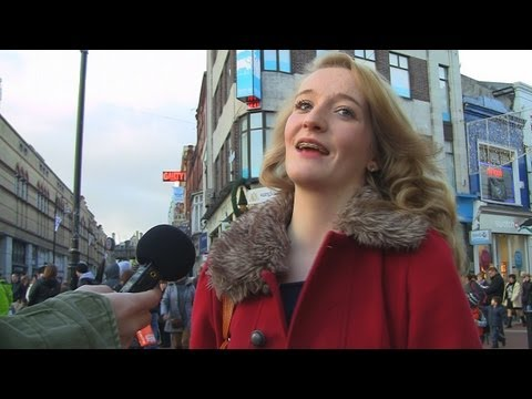 Talking about the budget on streets of Dublin, Ireland. Real Irish & Dublin accent.