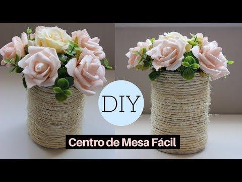 Como Fazer   DIY: Centro de Mesa   Vaso de Flores