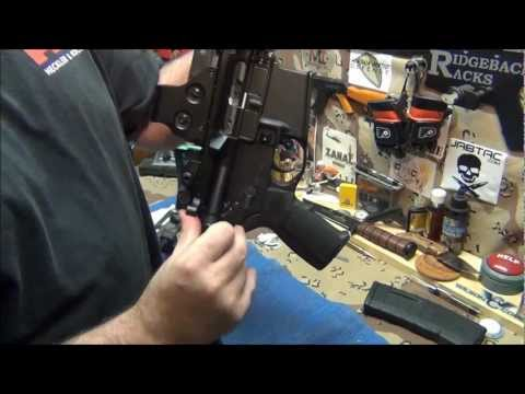 "AR15 cleaning ""gas piston system  much cleaner"""