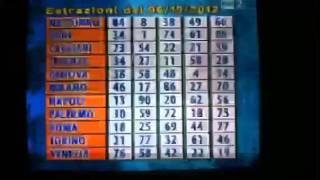 Estrazioni del lotto 06 10 2012