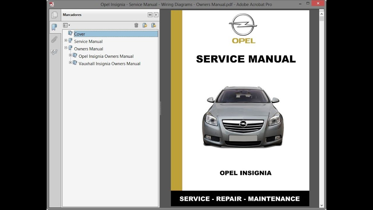 Opel Insignia - Service Manual    Repair Manual