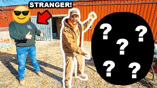 STRANGER Picks My NEW Farm ANIMAL at the AUCTION!!! (Bad Idea)