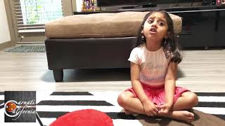 4-yr old Ankitha's Daily Ritual - Music | CarnatiCalifornia Student Feature