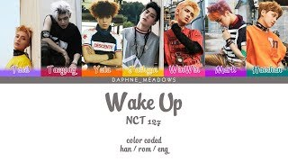 [nct 127] wake up 2018/02/22 *great nct u, congratulations! you're perfect and the best guys now!* colors: light violet – taeil (moon taeil) cherry taeyong...
