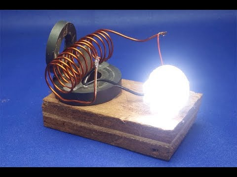 free energy  generator  with  light bulb || simple at home 2018