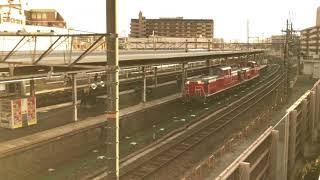 DD51 1192+DE10 1152 回送列車 JR京都線 茨木駅通過 2018/01/06