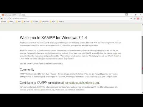 Install Xampp, Create Database, and Create index html File