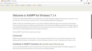 Install Xampp, Create Database, and Create index.html File