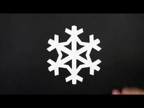Paper EASY SNOWFLAKE tutorial - Paper SIMPLE SNOWFLAKES - DIY
