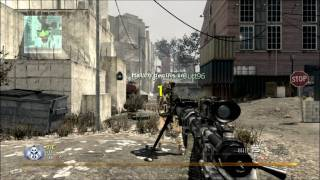 MW2:  Crazy Across Map Throwing Knife Kill - WhatAJokeShow