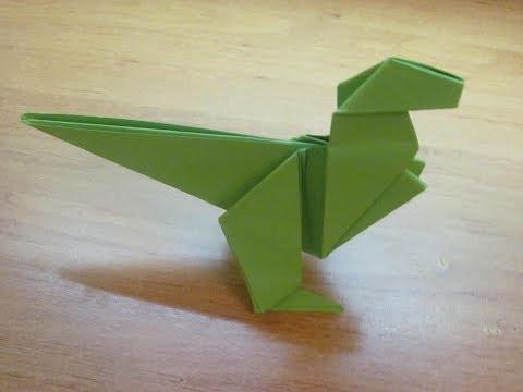 Как сделать из бумаги динозавра оригами