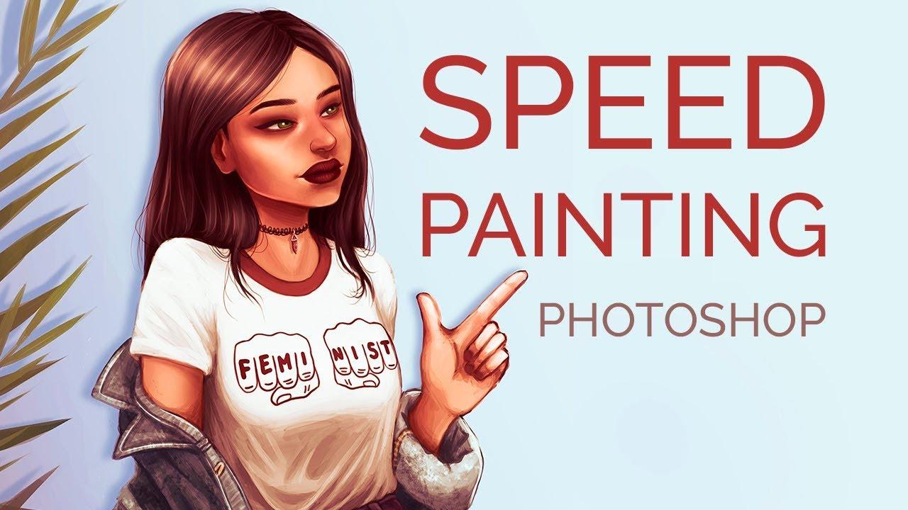 Speedpainting - drawing in Photoshop   Papaya girl