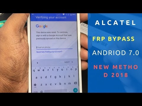 Alcatel FRP bypass Android 7 0/7 1 Method 2018 - YouTube