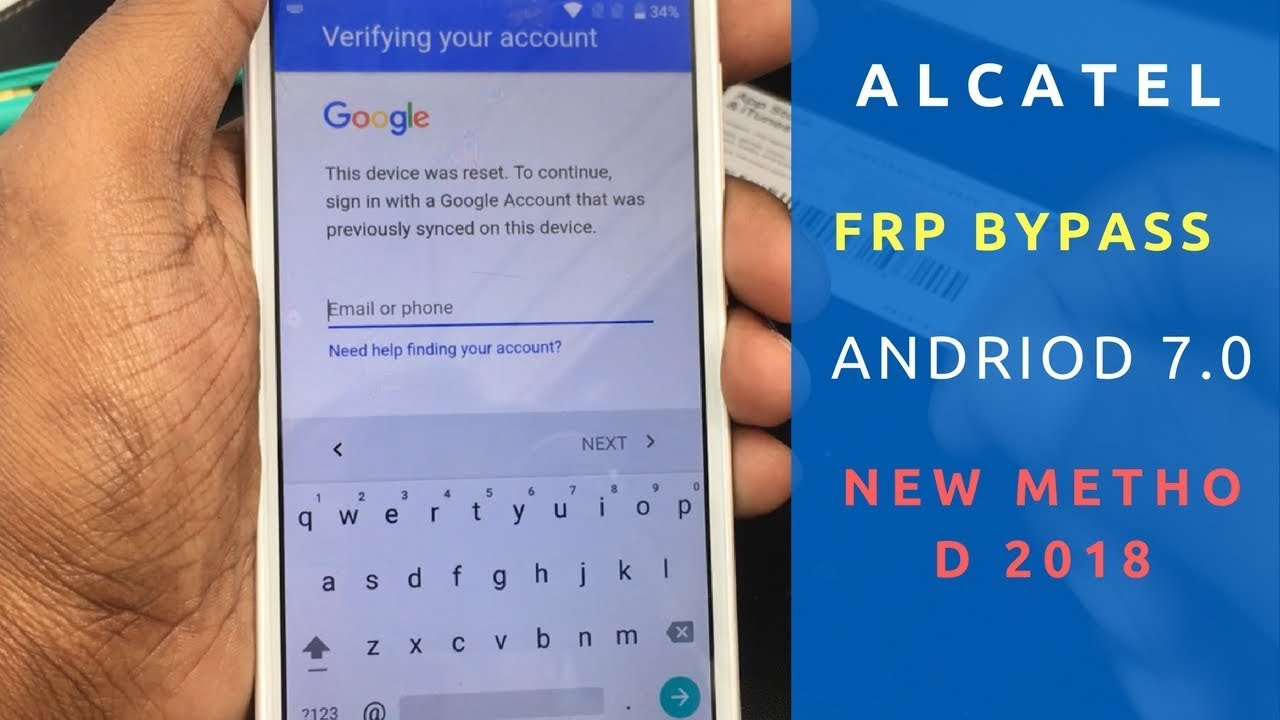 Alcatel FRP bypass Android 7 0/7 1 Method 2018