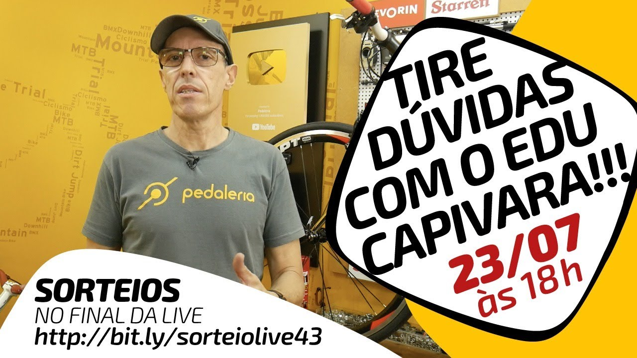 LIVE #43 - Edu Capivara tirando dúvidas da galera + sorteios no final. Pedaleria