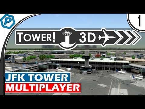 Tower3D Pro | Multiplayer Air Traffic Control Simulator | KJFK | Tower Mode | #1