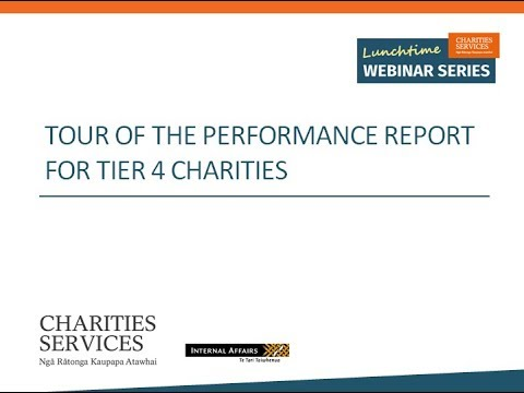 Tier 4 Charities - Tour of the Performance Report